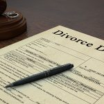A Divorce Form and a Pen